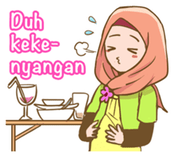 Euis Geulis Hijab: Ramadhan & Daily Talk sticker #11828931