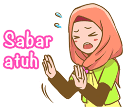 Euis Geulis Hijab: Ramadhan & Daily Talk sticker #11828934