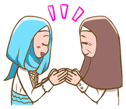 Euis Geulis Hijab: Ramadhan & Daily Talk sticker #11828949