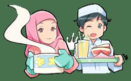 Muslim Couple : Ramadan sticker #11832549