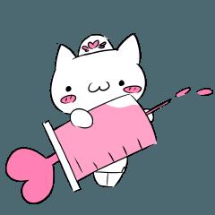 White cat nurse