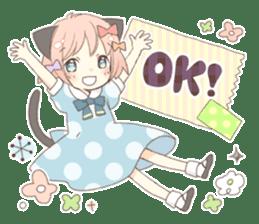 Cat ear girl Necoco part 5 sticker #11844734