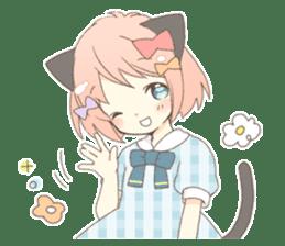 Cat ear girl Necoco part 5 sticker #11844739