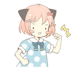 Cat ear girl Necoco part 5 sticker #11844741