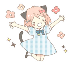 Cat ear girl Necoco part 5 sticker #11844742