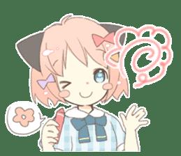 Cat ear girl Necoco part 5 sticker #11844753