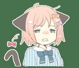 Cat ear girl Necoco part 5 sticker #11844760
