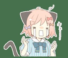 Cat ear girl Necoco part 5 sticker #11844761