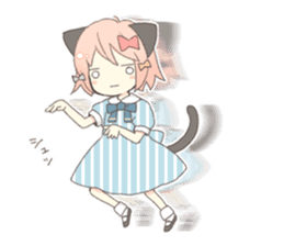 Cat ear girl Necoco part 5 sticker #11844762