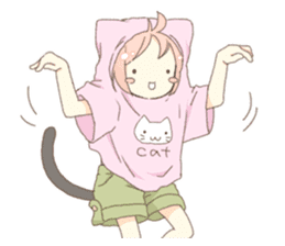 Cat ear girl Necoco part 5 sticker #11844763