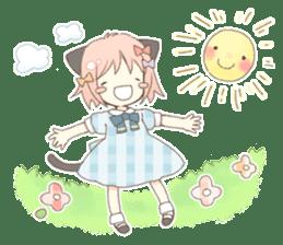 Cat ear girl Necoco part 5 sticker #11844766