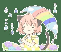 Cat ear girl Necoco part 5 sticker #11844767