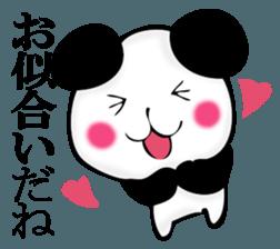 Slightly dry quiet panda sticker #11847078