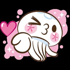 Clara the Jellyfish (Animated Stickers)