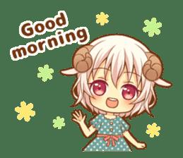 Fluffy sheep girl sticker #11849998