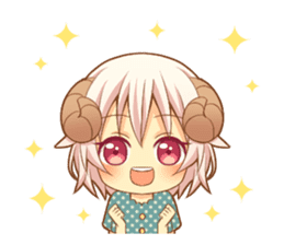 Fluffy sheep girl sticker #11849999