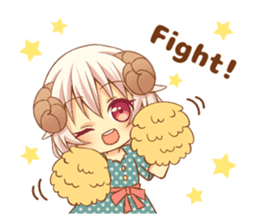 Fluffy sheep girl sticker #11850008