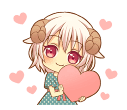 Fluffy sheep girl sticker #11850035