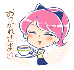 Good luck! Working women. mi-chan. sticker #11850567
