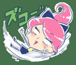 Good luck! Working women. mi-chan. sticker #11850576