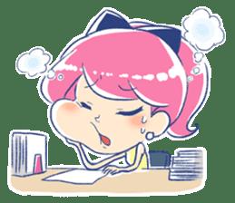 Good luck! Working women. mi-chan. sticker #11850590
