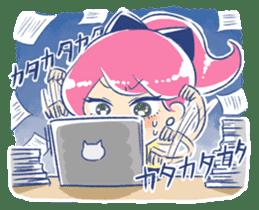 Good luck! Working women. mi-chan. sticker #11850591