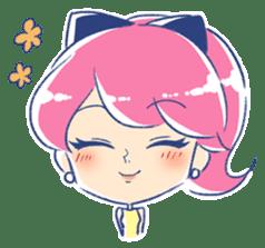 Good luck! Working women. mi-chan. sticker #11850594