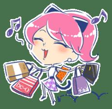 Good luck! Working women. mi-chan. sticker #11850597