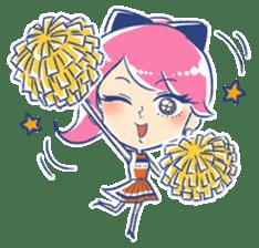 Good luck! Working women. mi-chan. sticker #11850604