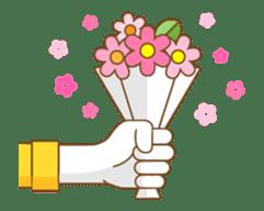 Animated hand sticker #11850608