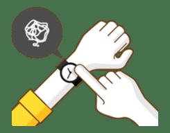 Animated hand sticker #11850613