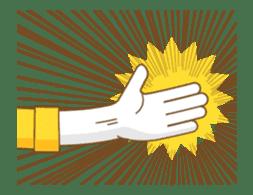 Animated hand sticker #11850619