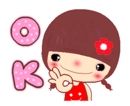 The Meehoo girl in love sticker #11854930