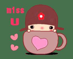 The Meehoo girl in love sticker #11854939