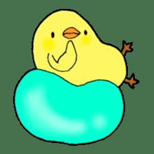 Bird horsetail sticker #11855273