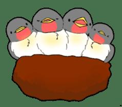 Bird horsetail sticker #11855284