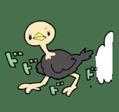 Bird horsetail sticker #11855286