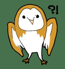 Bird horsetail sticker #11855288