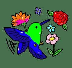 Bird horsetail sticker #11855292