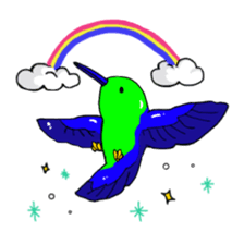 Bird horsetail sticker #11855293
