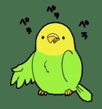 Bird horsetail sticker #11855297
