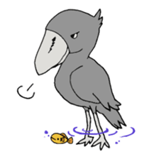 Bird horsetail sticker #11855299