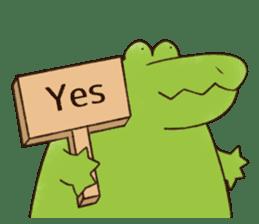 A funny crocodile 2 sticker #11858622