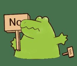 A funny crocodile 2 sticker #11858623