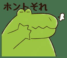 A funny crocodile 2 sticker #11858627