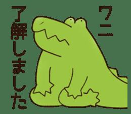 A funny crocodile 2 sticker #11858630