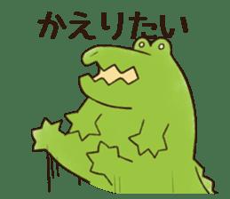 A funny crocodile 2 sticker #11858635