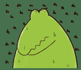 A funny crocodile 2 sticker #11858641