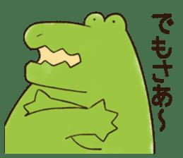 A funny crocodile 2 sticker #11858643