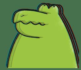 A funny crocodile 2 sticker #11858647
